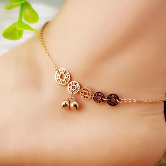 Jewelry - Rose Gold Bell Anklet Ankle Bracelet